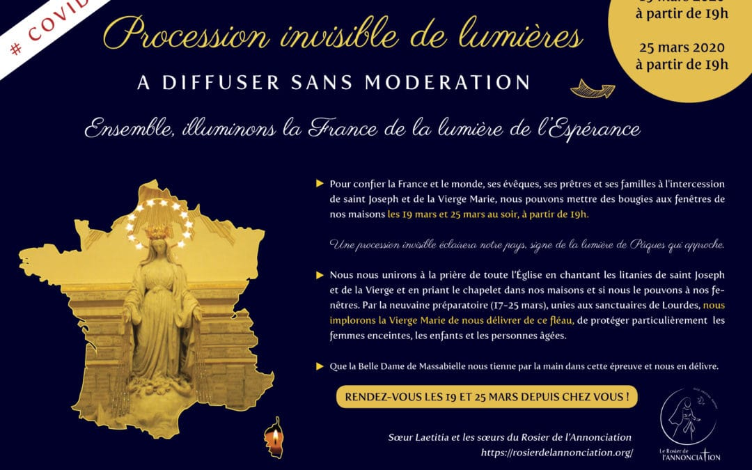 #COVID19 – Procession invisible de lumières